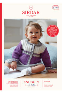 Sirdar Snuggly Baby and Children Patterns - 5277 Color Block Cardigan Pattern