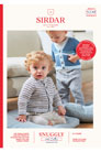 Sirdar Snuggly Baby and Children Patterns - 5278 V-Neck and Round Neck Cardigan