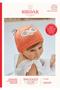 Sirdar Snuggly Baby and Children Patterns - 5275 Boys and Girls Owl Hat Pattern