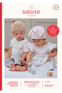 Sirdar Snuggly Baby and Children Patterns - 5274 Teddy Bear and  Rabbit Hats Pattern