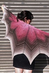 Freia Fine Handpaints Pattern Collection Patterns - Antheraea Shawl - PDF DOWNLOAD Pattern