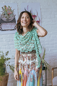 Kelbourne Woolens Patterns - KW Crochet Collection Patterns - Succulent Shawl - PDF DOWNLOAD photo