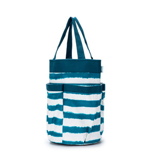 della Q Cleo Yarn Caddy - 330-1 - *Watercolor - Teal Stripe