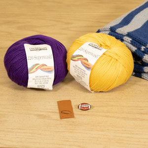 Jimmy Beans Wool Football Scarf Starter Kit - Minnesota