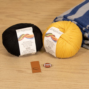 Jimmy Beans Wool Football Scarf Starter Kit - New Orleans