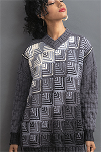 Trendsetter Mitered Tunic - Color Combo B, 2XL Sizes at