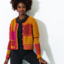 Trendsetter Multipatterned Cardigan - Autumnal, Medium and Large Sizes