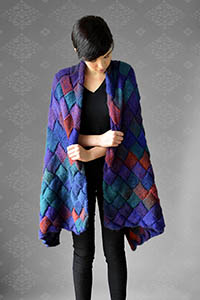 Universal Yarns Patterns - Classic Shades Patterns - Assimilate Wrap - PDF DOWNLOAD photo