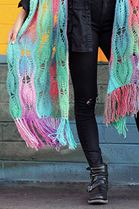 Universal Yarns Patterns - Classic Shades Patterns - Leaf Link Scarf - PDF DOWNLOAD photo