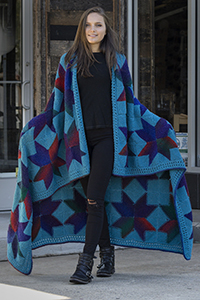 Universal Yarns Patterns - Classic Shades Patterns - Starshades Afghan - PDF DOWNLOAD photo