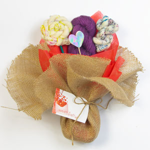 Jimmy Beans Wool Saltwater Taffy Valentine Bouquet - Medieval