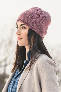 Blue Sky Fibers Traveler's Series Patterns - Claremont Cabled Hat - PDF DOWNLOAD Pattern