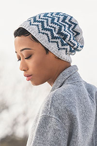Blue Sky Fibers Traveler's Series Patterns - Springfield Chevron Hat - PDF DOWNLOAD Pattern