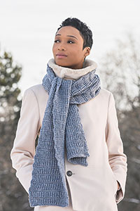 Blue Sky Fibers Traveler's Series Patterns - Ramsey Ribbed Scarf - PDF DOWNLOAD Pattern