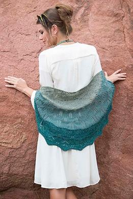 Cascade 220 Fingering Tres Flores Shawl Kit - Scarf and Shawls
