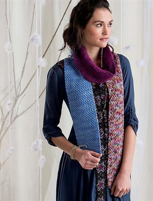 Malabrigo Worsted Merino Linen Stitch Scarf Kit - Scarf and Shawls