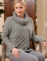 Trendsetter Firefly #5100A Side to Side Cabled Cowl Pullover Kit