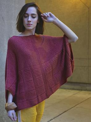 Isager Alpaca 2 Gotham Poncho Kit - Women's Pullovers