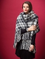 Rowan Cocoon Plaid Fringed Wrap