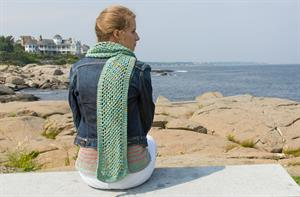 Classic Elite Sandpiper Mesh Scarf Kit - Scarf and Shawls