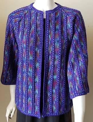 Harvey Kimono Knitting Pattern : CPY Merino 5 Kimono Jacket with Stripes Kit - Womens Cardigans Kits at J...