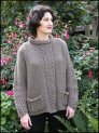 Cascade Eco Wool Raglan Cable Saddle Shoulder Sweater Kit