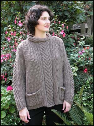 Cascade Eco Wool Raglan Cable Saddle Shoulder Sweater Kit - Women's Sleeveless