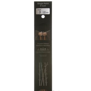 "Crystal Palace Bamboo Single Points Needles - US 10 - 9"" Needles"