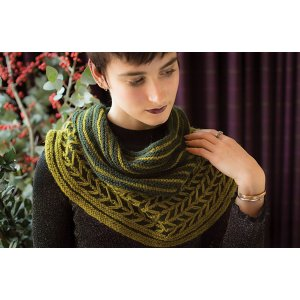 The Fibre Co. Cumbria Pine Sway Cowl Kit - Scarf and Shawls