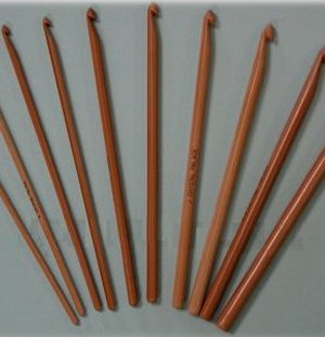 Crystal Palace Bamboo Crochet Hooks Needles - US I Needles
