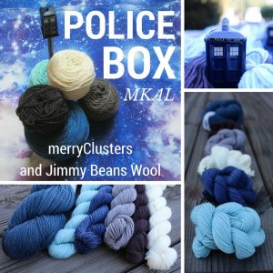 Lorna's Laces Shepherd Sock Police Box MKAL Kit - Scarf and Shawls