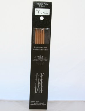 "Crystal Palace Bamboo Long Double Points Needles - US 10 - 8"" Needles"