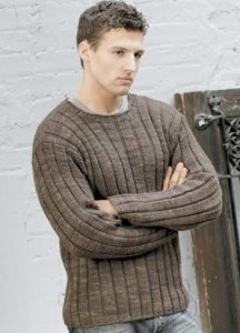 Blue Sky Fibers Worsted Hand Dyes Men's Ribbed Sweater Kit - Mens Sweaters