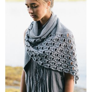 Shibui Knits Staccato Open Waters Shawl Kit - Scarf and Shawls