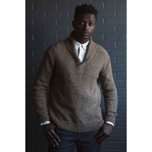 Berroco Tuscan Tweed Whiskey Creek Pullover Kit - Mens Sweaters