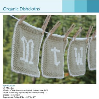 Jimmy Beans Wool Celebrity Swag Bag - Organic Dishcloths Kit - Home Accessories