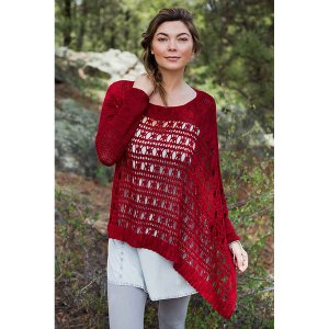Manos del Uruguay Alegria Solid Crocheted Hondius Way Pullover Kit - Women's Pullovers