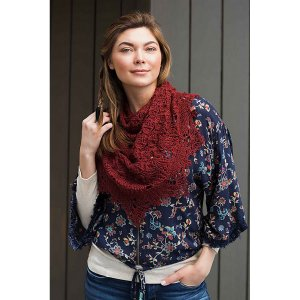Road to China Lace Crocheted Fall River Shawl Kit - Scarf and Shawls