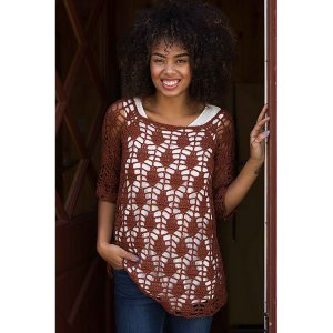 Plymouth DK Merino Superwash Crocheted Dunraven Lace Tunic Kit - Women's Pullovers