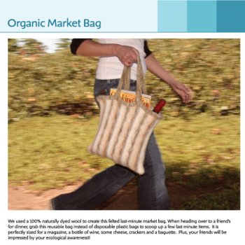 Jimmy Beans Wool Celebrity Swag Bag - Organic Market Bag Kit - Felting