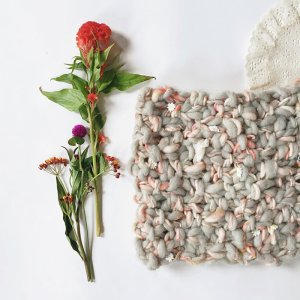 Knit Collage Daisy Chain and Spun Cloud Double Happiness Cowl Kit - Scarf and Shawls