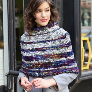Malabrigo Caracol Bethune Striped Capelet Kit - Scarf and Shawls