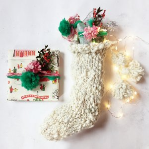 Knit Collage Cast Away Holiday Stocking Kit - Home Accessories