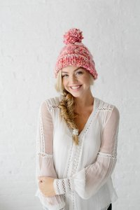 Knit Collage Cast Away Snow Bunny Cable Hat Kit - Hats and Gloves