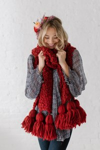 Knit Collage Sister Mistletoe Tassel Scarf Kit - Scarf and Shawls