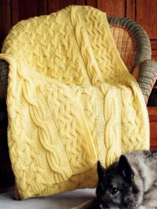Fiber Trends Reversibly Cabled Afghan Kit - Home Accessories