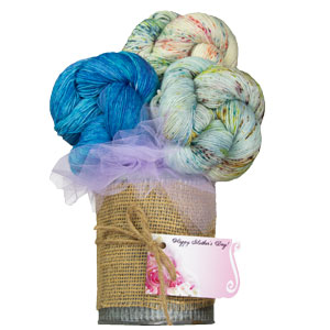 Jimmy Beans Wool Madelinetosh Yarn Bouquets - The Girl From the Grocery Store - Blue Mystery