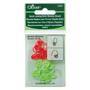 Clover Stitch Markers - Quick Locking Stitch Markers (Small)