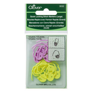 Clover Stitch Markers - Quick Locking Stitch Markers (Large)