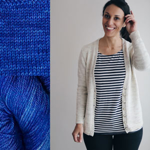 Madelinetosh Sweater Club - Rain Pool - S, M (32.5, 36.5) inches